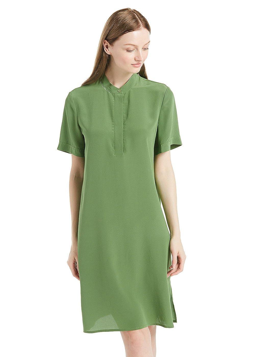 LilySilk Seide Kleider Sommerkleider Damenmode Seidenkleider Damen Kurz 18 Momme Verpackung MEHRWEG