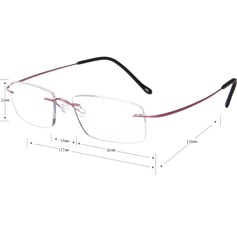 cf88f58a0e0a Amazon.com  LianSan Womens Mens Designer Titanium Reading Glasses  Lightweight Fashion Magnifier Readers with case 1.5 2.0 1.25 1.75 1.0 2.25  2.50 2.75 3.0 ...