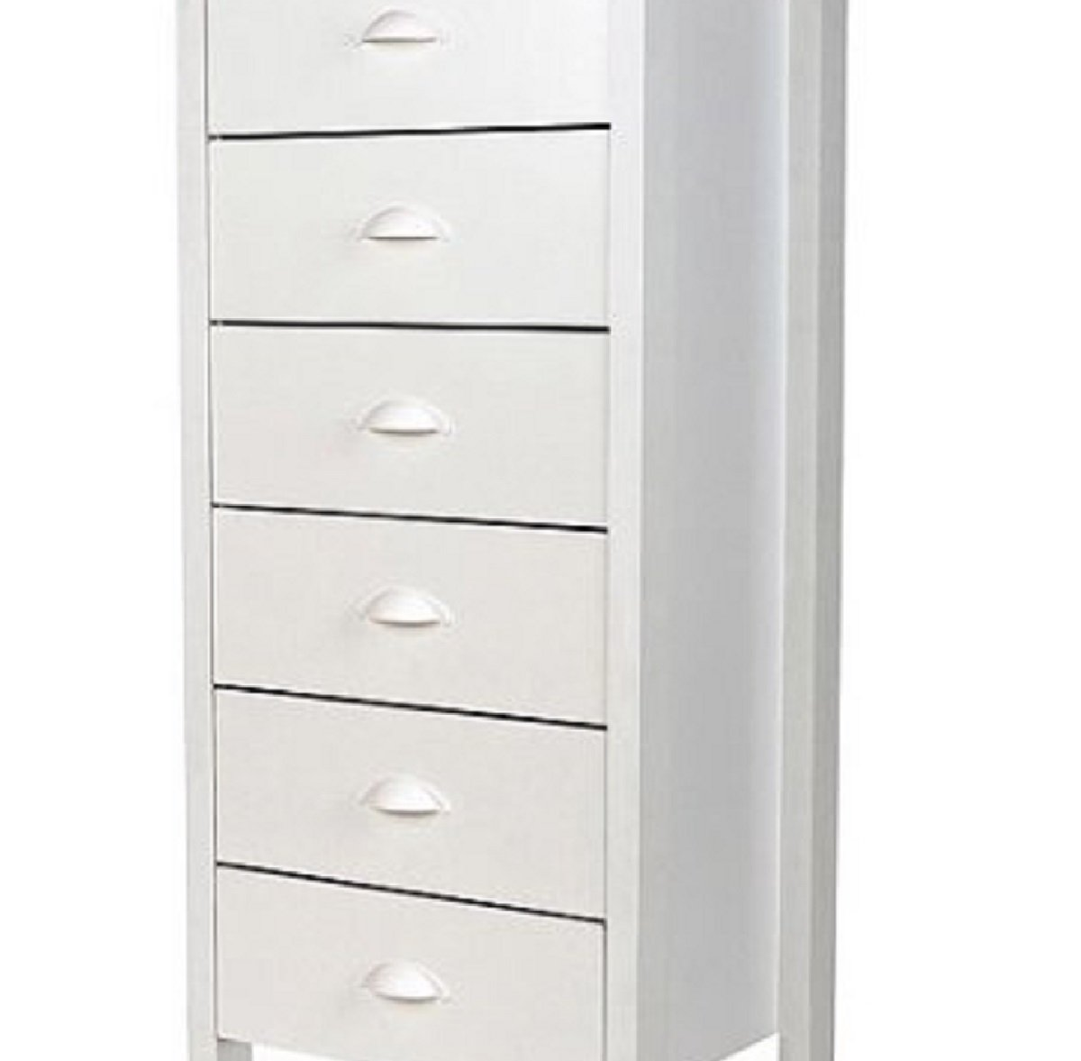 6-Drawer White Elegant Design Completely Removable Drawers Plastic Cup-Style Handles Wood Composite Construction… -  - dressers-bedroom-furniture, bedroom-furniture, bedroom - 6107HBFIDsL -
