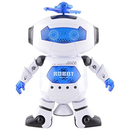 Tickles Naughty Dancing Robot Led Light And Music Toy - White