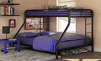 Sturdy Kids Twin Over Full Metal Bunk Bed With Stairs This Durable Steel Frame