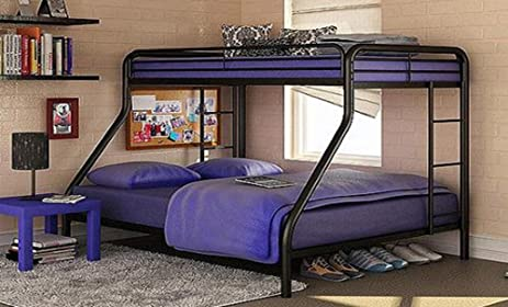 sturdy kids sturdy twin over full metal bunk bed with stairs this durable steel frame
