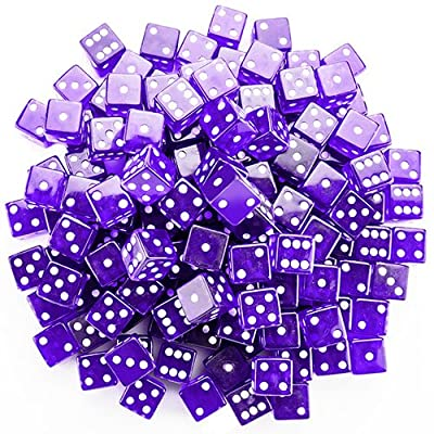 Brybelly Dice (100 Count), Purple, 19mm: Sports & Outdoors