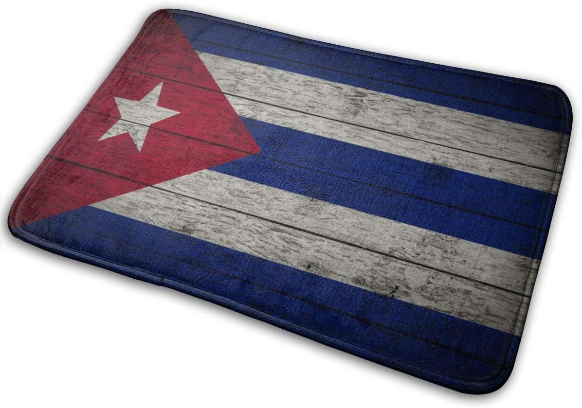 LaoJiNan-shop Kuba Flagge Willkommen T/ürmatte Indoor Outdoor Eingang Teppich Fu/ßmatten