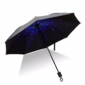 SFSYDDY-Chica Estudiante Creativo Fresco Sombreado Solar Sol Paraguas Plegable Doble Uso Protector Solar Tres