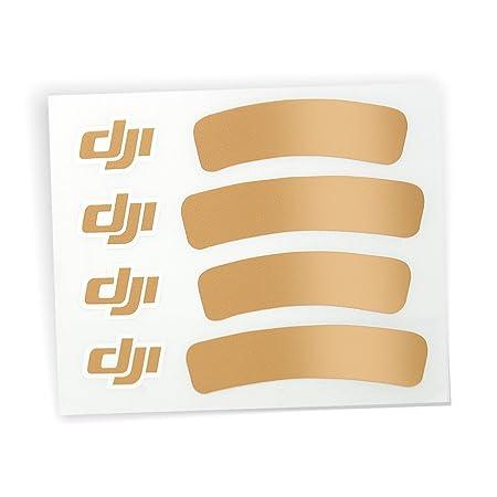 DJI Sticker Aufkleber Gold Phantom 3 III Quadrocopter Standard Advanced und Professinal
