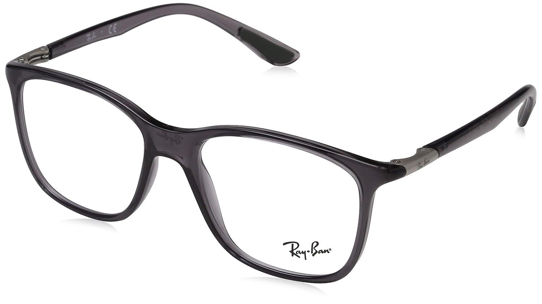 16b831d76a Amazon.com  Ray-Ban Unisex RX7143 Eyeglasses Trasparent Grey 53mm  Clothing