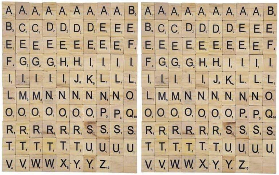 200 Piezas Madera de la Letra Azulejos Letras del Scrabble Juegos de Mesa Alfabeto Cuadrado Educativo Scrabble Letras para Decoración Pantallas 200 Piezas: Amazon.es: Juguetes y juegos