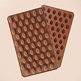 AKOAK Silicone Mold 55 Cavity Mini Coffee Beans Chocolate Sugar Candy Mold Cake Decor,2 Count