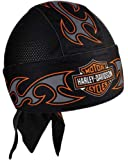 Harley-Davidson Men's Tribal Bar & Shield Air Flow Mesh Headwrap, Black HW18930