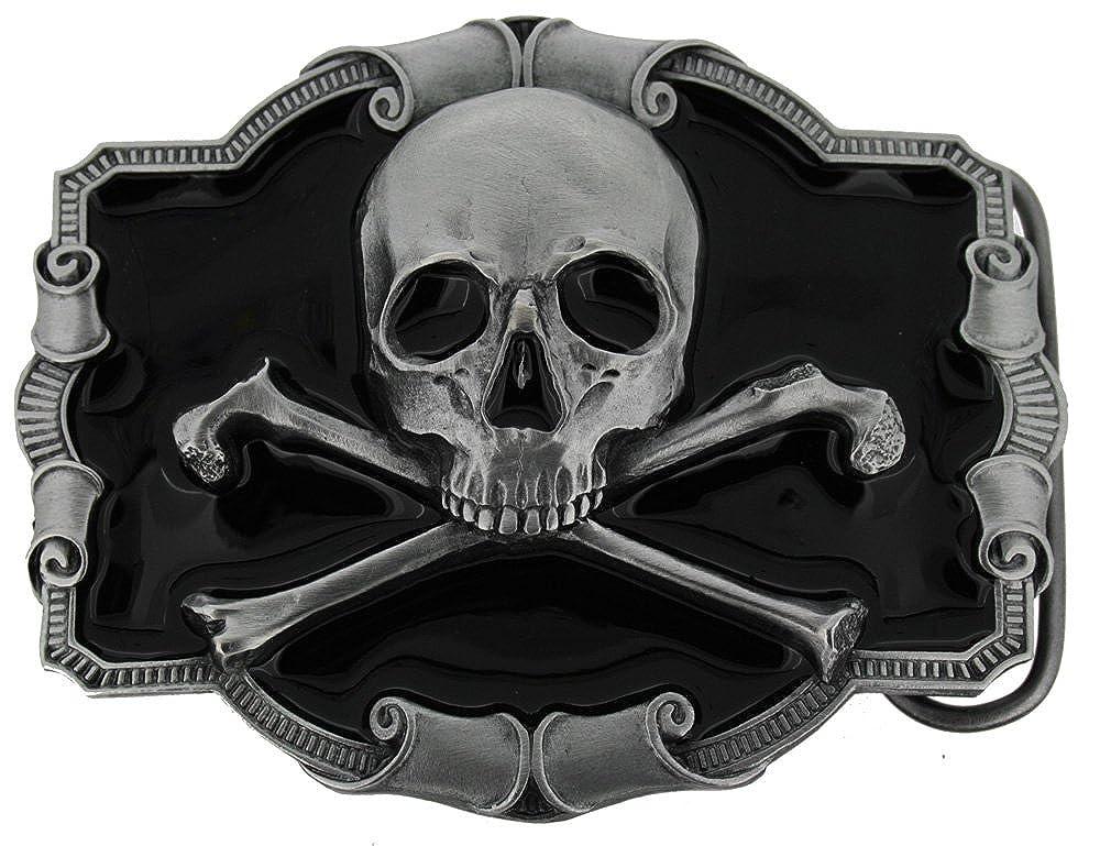 Gürtelschnalle Pirate 4,0 cm Gürtelschnallen Fashion Flagge Schwarze Marine