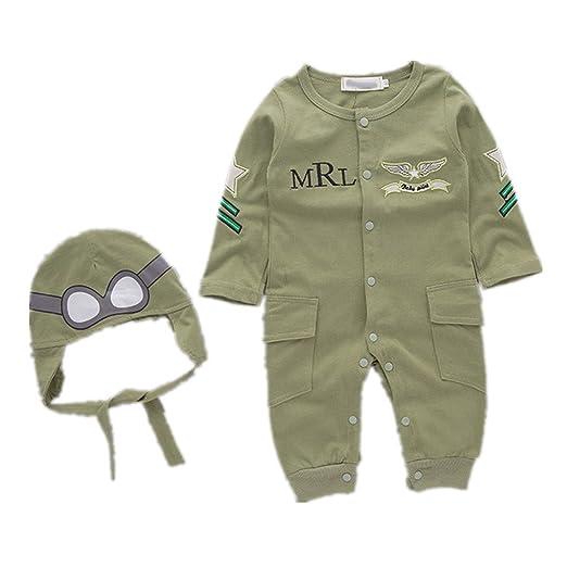 e9d1468ab Amazon.com: Nodykka Baby Toddler Bodysuits Pilot Overalls Long Sleeve  Jumpsuit Romper Clothes Pants: Clothing