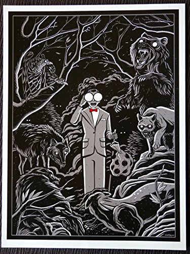 Rare Poster Central Pee Wee's Big Adventure - Night Vision - Movie Art Mini Poster