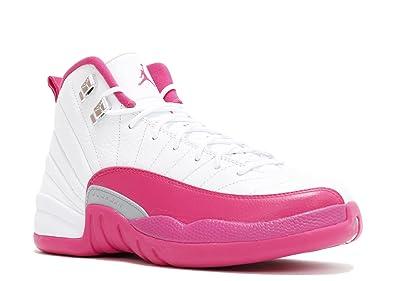 Air Jordan 12 Tailles Rose Et Blanc De Matelas