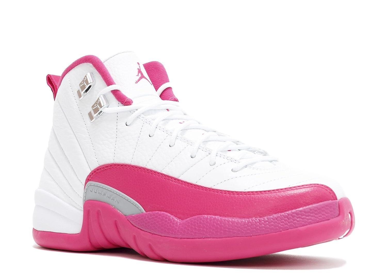 online store 30fad 5ac5f Amazon.com   Jordan Air 12 Retro XII GG Vivid Pink 510815 109 White Vivid  Pink-Metallic Silver Size 9.5Y Women Size 11 11.5   Basketball