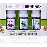 Aroma2Go 100% Pure Plant Based Essential Oils 5ML Set | Birch, Patchouli, Cedarwood (Hippie Pack)