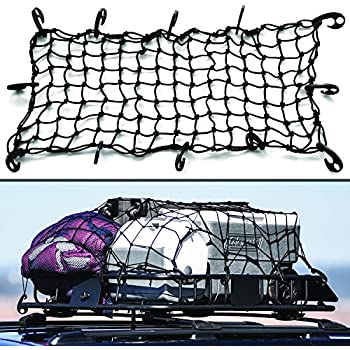 """16""""x32"""" Super Duty Bungee Cargo Net Stretches to 32""""x64"""" 