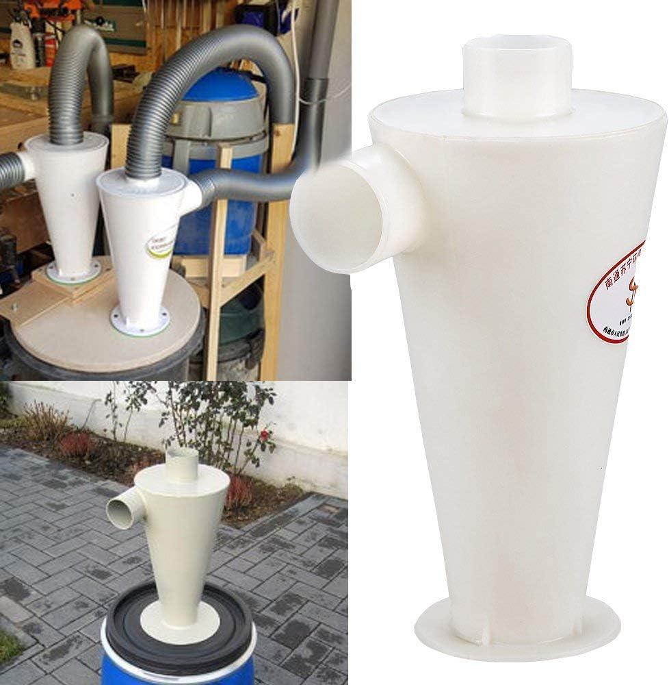 Blanco-1 Separador Cicl/ónico Filtro Cicl/ón Recolecci/ón de Polvo para Aspirador Dust Collector
