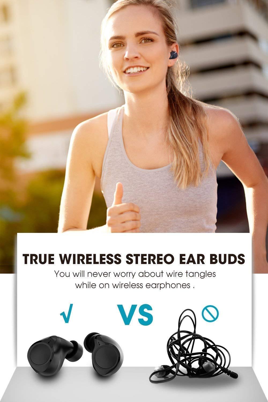 Bluetooth Kopfh/örer Bluetooth 5.0 Dudios Zeus TWS kabellose Kopfh/örer In Ear Kopfh/örer mini Ohrh/örer Stereo-Sound eingebautes Mikrofon 3.5 Stunden Spielzeit IPX5 mit Mini Ladekoffer f/ür alle BT Ger/äte