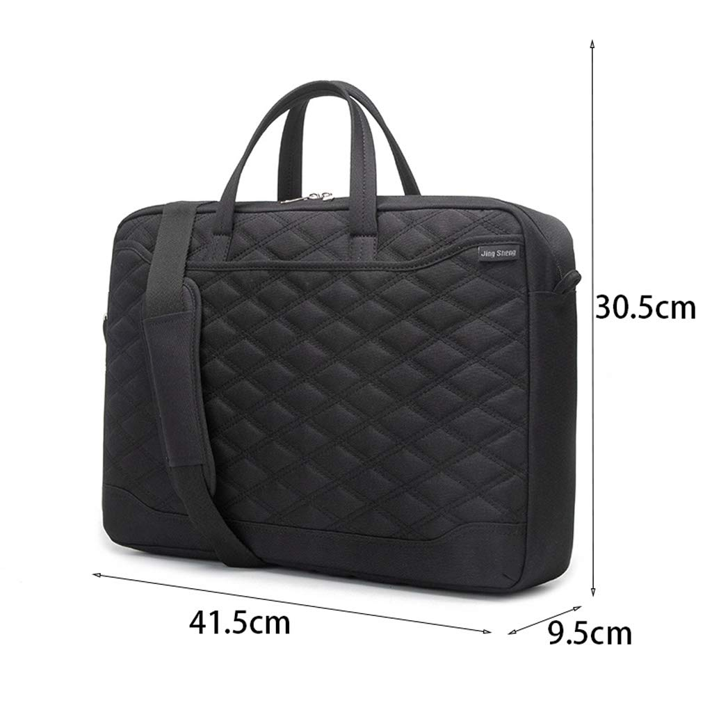 Color : Black Minmin-diannaobao 15 Inch Laptop Shoulder Bag Waterproof Laptop Case for 15-15.4 Inch Dell HP Lenovo Ultrabook Computer Carry Case