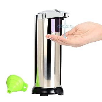 Queta - Dispensador de jabón automático de Acero Inoxidable con Sensor antigoteo Ajustable Plus y un