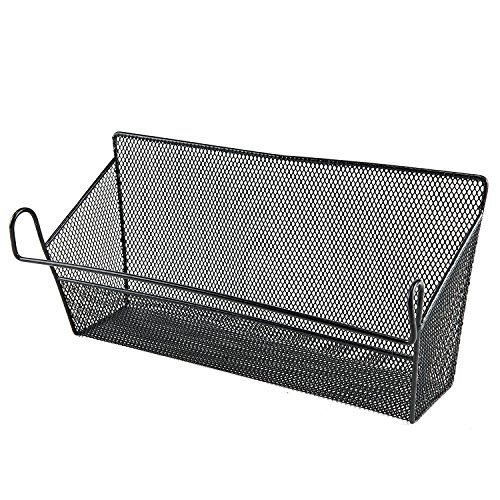 Metal Basket Mail Organizer Letter Holder Hanging Baskets (Black)