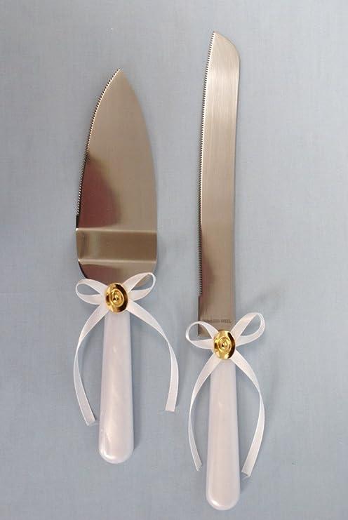 Amazon.com: Western Tarta de Boda cuchillo & Server Set ...