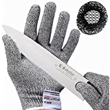 Cut Resistant Gloves By FORTEM - Level 5 Protection, EN388 Certified Safety Cutting Gloves For Hand Protection, Kitchen, Outdoor Yard Work (Medium 1 Pair)
