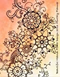 Beautiful Mendhi Flower Design 2016 Monthly Planner