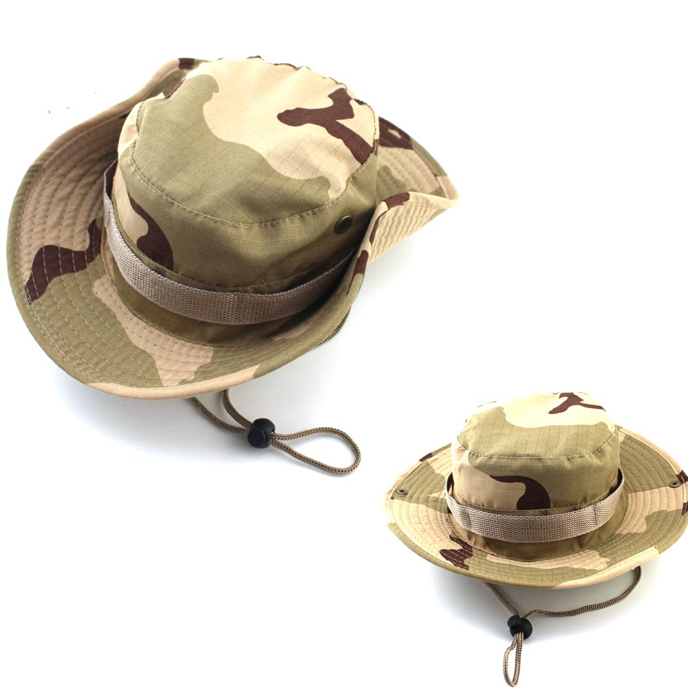 50a1c66cfe1 Unisex Cotton Quick-Dry Foldable Lightweight Breathable Wide Brim UPF 50+  Sun Protective Boonie Fishing Bucket Hunting Hat (Camo Sand) at Amazon  Men s ...