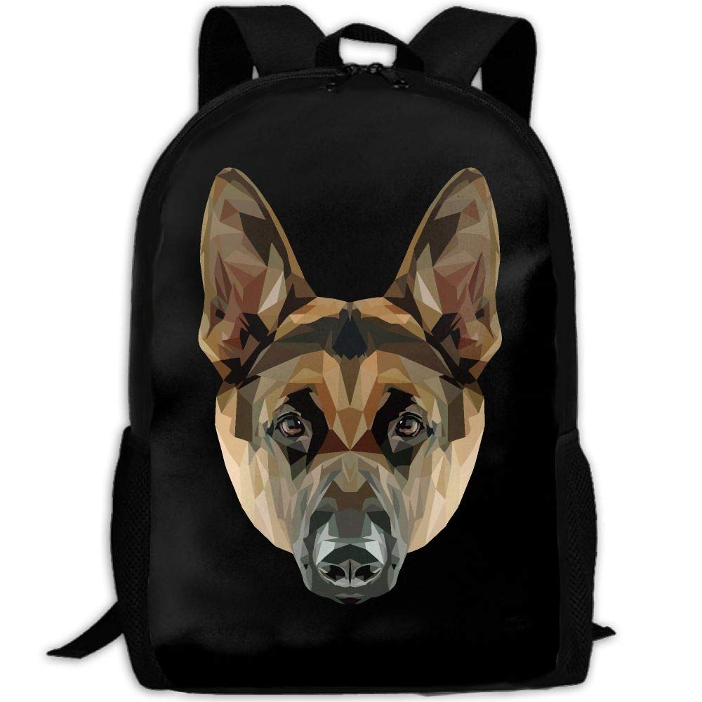 OIlXKV German Shepherd Print Custom Casual School Bag Backpack Multipurpose Travel Daypack For Adult
