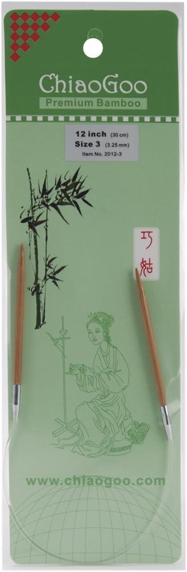 Bamboo Circular Knitting Needles 12-Size 1.5//2.5Mm