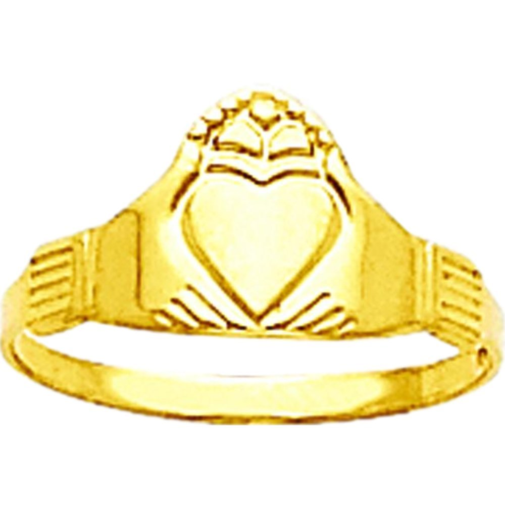 14K Yellow Gold Claddagh Ring Childrens Jewelry