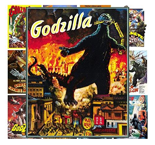 Mini Posters Set  Godzilla Kaiju Horror Sci Fi # Trash Movie
