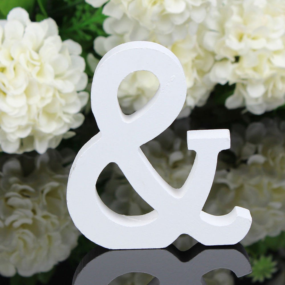 A To Z Wood Letter Alphabet Word Standing Wedding Party Home