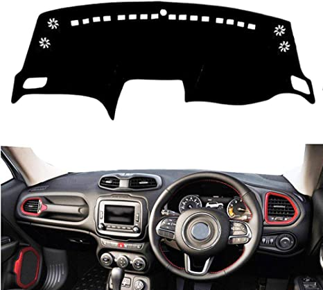 BAISHENG RHD Anti UV Dashboard Cover Dash Mat Pad Sun Shade Instrument Carpet Car Accessories,For Jeep Renegade 2011 2012 2013-2018 2019