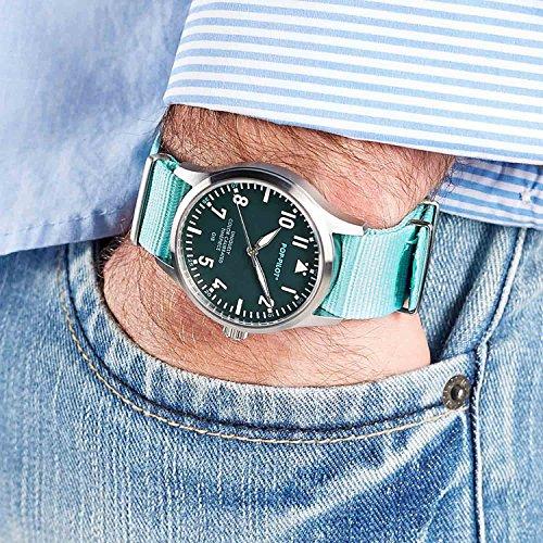 POP-PILOT® GIB herrarmbandsur nylon armband turkos
