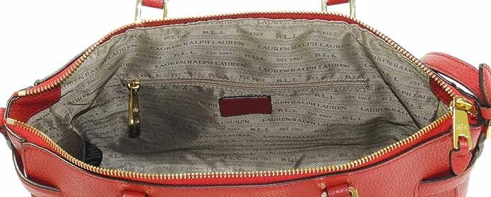 f7e80bbb509 SALE!! Ralph Lauren Ladies Leather Darwin Satchel Shoulder Buckle Bag Gift  Red  Amazon.co.uk  Shoes   Bags