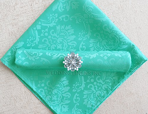 Damask Overlays (Wedding Linens Inc. 10 pcs Marquis Jacquard Damask Polyester 20
