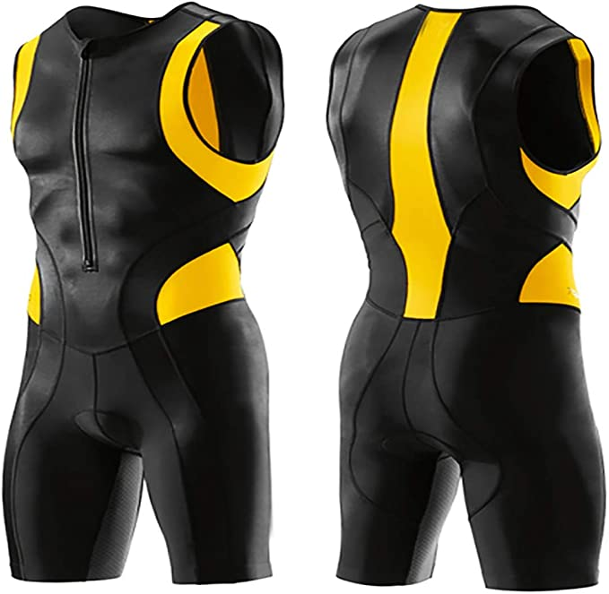 Details about  /Men Cycling Triathlon Suit sleeveless Bicycle Skinsuit Dress Male Bike
