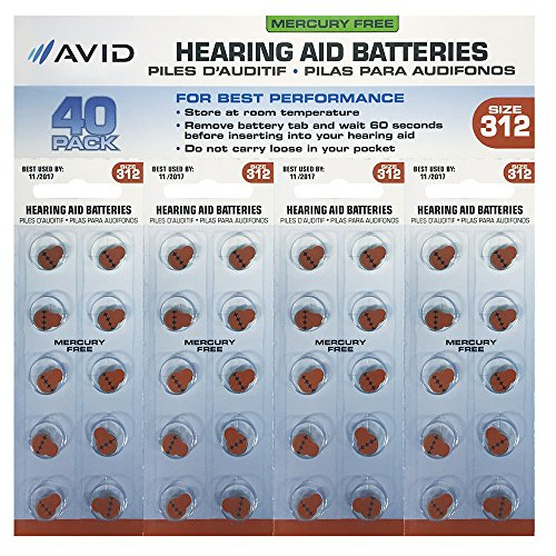 Avid (HLT-312BATT40) Hearing Aid #312 Battery (40 Count) by Avid