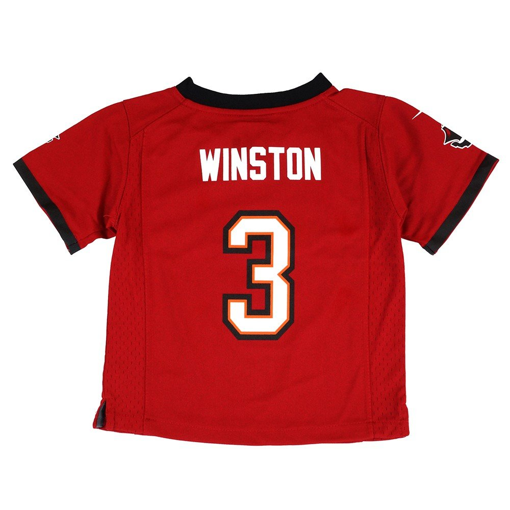 Nike Jameis Winston Tampa Bay Buccaneers Home Red Toddler Game Jersey 2T-4T