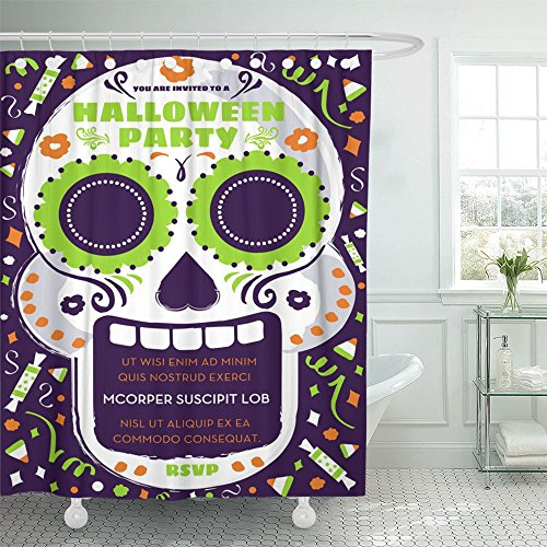 Emvency Shower Curtain 72x72 Inch Home Postcard Decor Print
