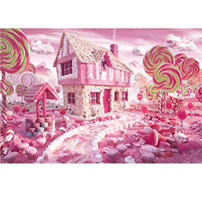 Konren Puzzles for Adults 1000 Piece Large Puzzle, Candy House Landscape Jigsaw Puzzle, DIY Collectibles Modern Home Decoration, Large Puzzle Game Toys Gift: Toys & Games