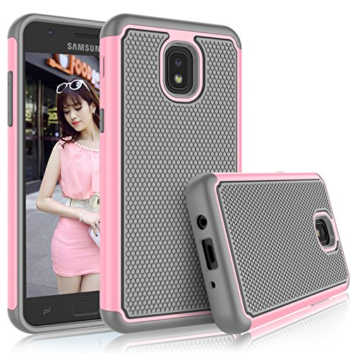Tekcoo for Galaxy J7 2018 Case, for J7 Star/J7 Refine/SM-J737/J7 Aura/J7 Aero Case for Girls, [Tmajor] Shock Absorbing [Baby Pink] Rubber Silicone Plastic Sturdy Hard Cases Cover for Samsung J7 Eon ()