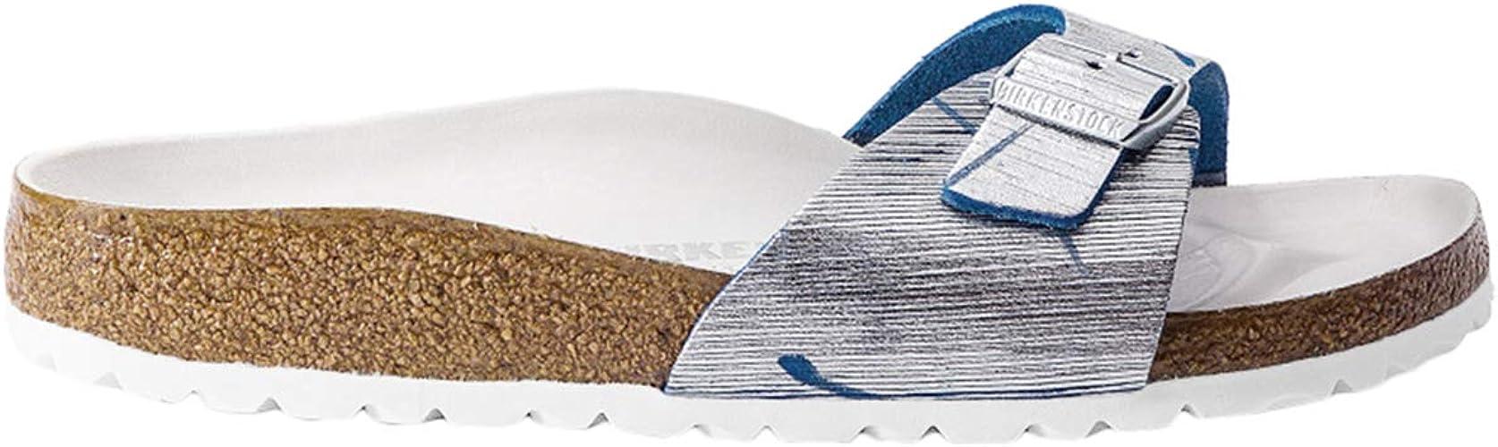 Birkenstock Madrid Rivet Logo NU Metallic Cuts Magenta