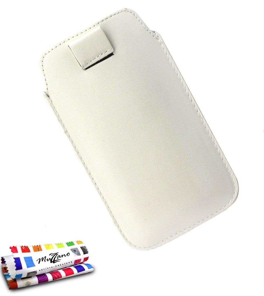LG L7 / P700用ムザノオリジナルルスイープケースカバー - ホワイト   B00ESFCV28