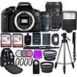 Canon EOS Rebel T6i 24.2MP WiFi Enabled Digital SLR Camera with EF-S 18-55mm IS STM Lens + Tamron Zoom 70-300mm f/4-5.6 Lens and Accessory Bundle