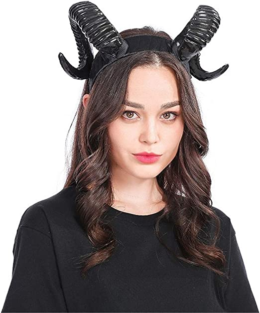 NEW Ram Horns Costume Accessory Adjustable Headband by elope FREE SHIPPING