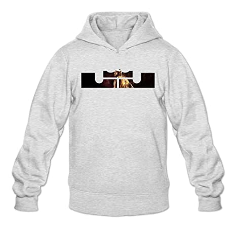 new product 8c2d5 aca09 Men s Lebron James Easter King Logo Hoodie XXL Ash